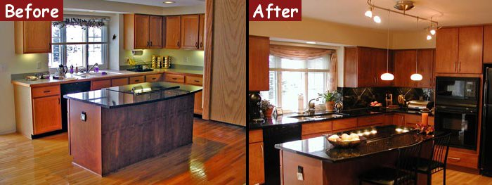 Before And After Kitchen Remodel Interior kitchen remodel | design & build construction | troy, michigan