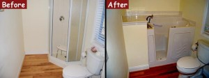 Walk-In Bath Tub Replacement - Before and After Photos